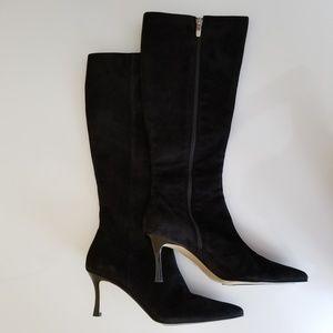 Anne Klein black Suede boots NWOT
